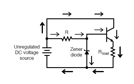 Common collector application: voltage regulator.