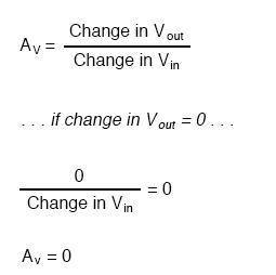 common mode voltage gain of zero formula