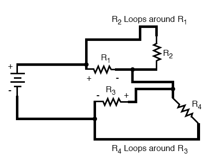 complex circuit diagram loops around