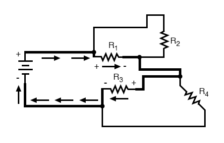 complex circuit diagram short loop