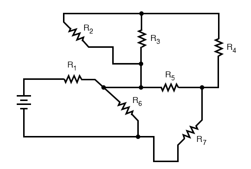 complex circuits in a terminal strip schematic diagram