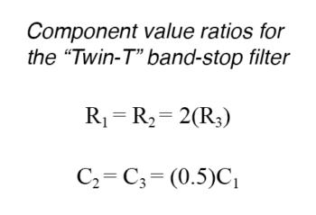 component values twin t ratios