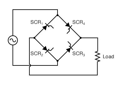 Controlled bridge rectifier