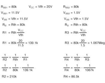 convert base bias resistors for cascode amplifier