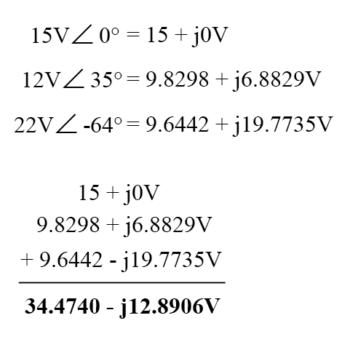 convert polar form complex numbers into rectangular form