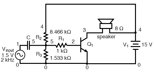 Coupling capacitor prevents voltage divider bias from flowing into signal generator.