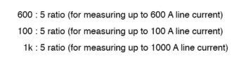 ct ratios