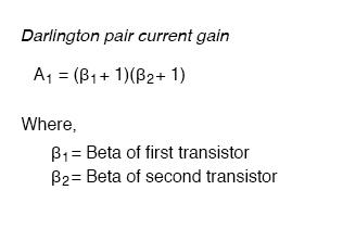 darlington pair current gain