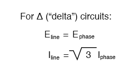 delta circuits equation
