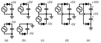 deriving full wave doublers from half wave rectifiers