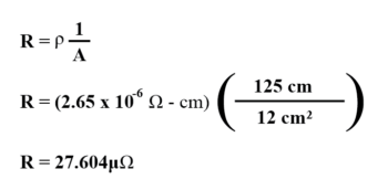 determine size and length of wire example1