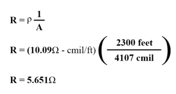 determine size and length of wire example2