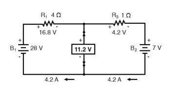 determine thevenin voltage diagram1