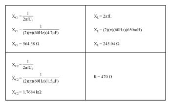 determine values of impedance image1