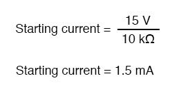 determining current in circuit formula