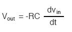 determining voltage output for differentiator formula