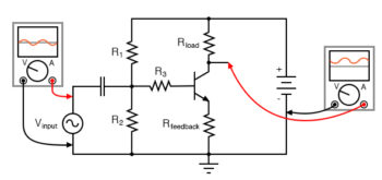 different method of introducing negative feedback into circuit