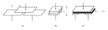 differential capacitive transducer varies capacitance ratio by changing