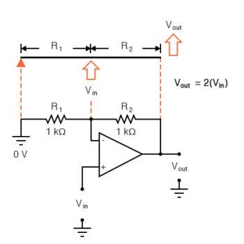 divided feedback amplifier circuits diagram