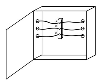 electrical wiring cabinet