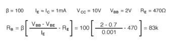 emitter current times emitter resistor