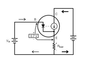 emitter voltage follows base voltage