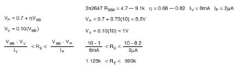 equation unijunction transistor example