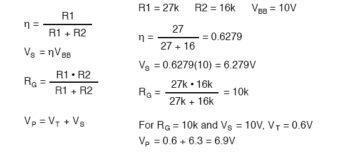 equation unijunction transistor example1