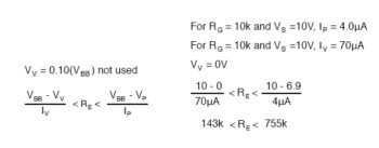 equation unijunction transistor example2