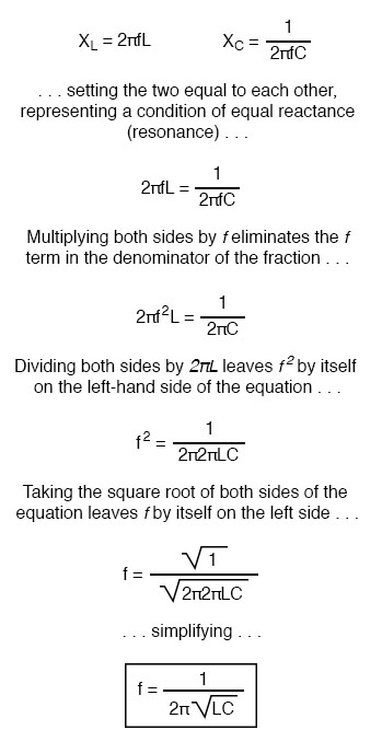 equations for determining the reactance