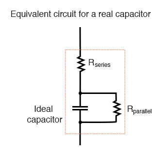 equivalent circuit real capacitor