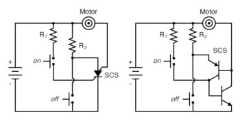 equivalent circuit with two transistors
