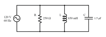 example RLC parallel circuit
