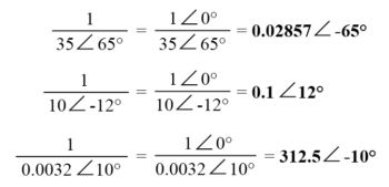 finding reciprocal of complex number