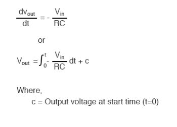 formula for determining voltage output