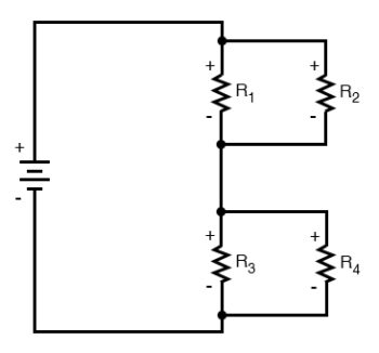 four resistor series parallel configuration image2