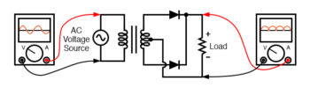 full waive rectifier center tapped design