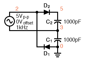 full wave voltage doubler operation analysis