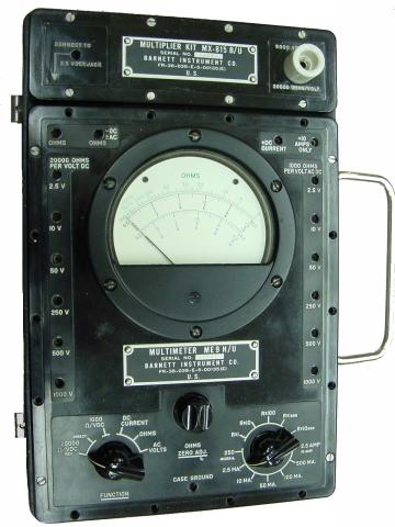 handheld analog multimeter