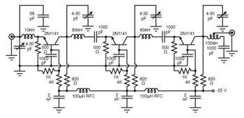 high gain common base rf amplifier