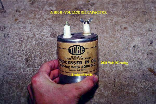 high voltage oil capacitor