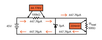 higher dropping resistance analysis without zener diode