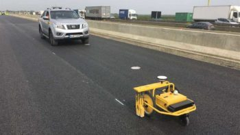 highways of england line painting robot