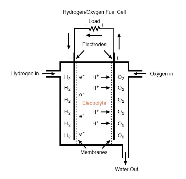 hydrogen oxygen fuel cell