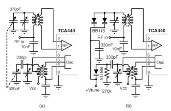 ic radio comparison of mechanical tuning to electronic varicap diode tuning