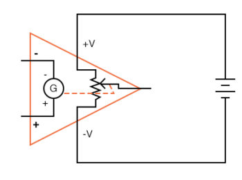 ifferential amplifier as a variable voltage source