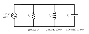 impedance in parallel components