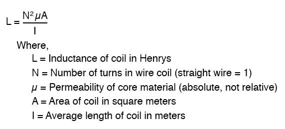 Inductance formula