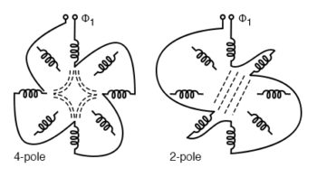 induction motors with multiple fields