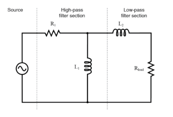 inductive band pass filter circuit
